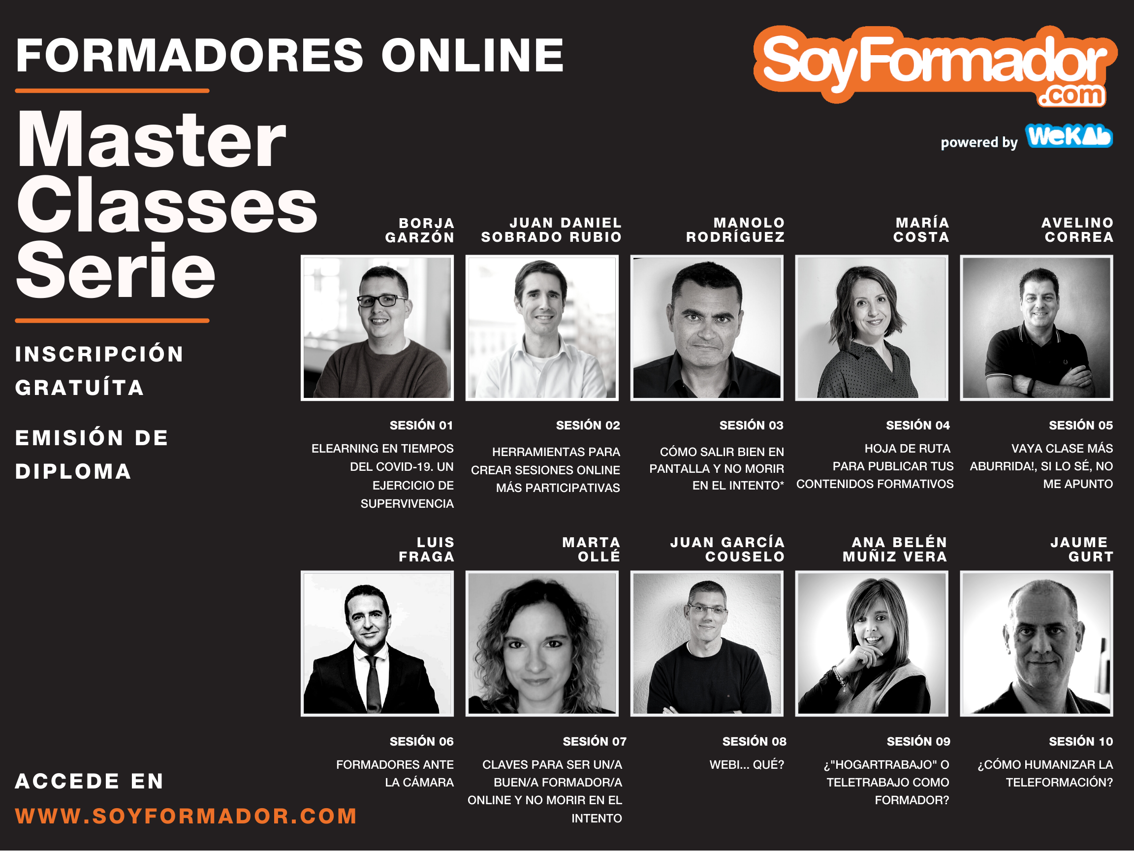 MASTERCLASS SERIE - Formadores online